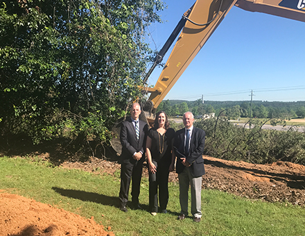 John Gerondelis, Rhea Davis & Jeff Miller at the Groundbreaking Ceremony.